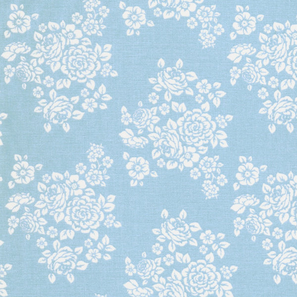 Anne of Green Gables Flower Bouquet Fabric on Blue