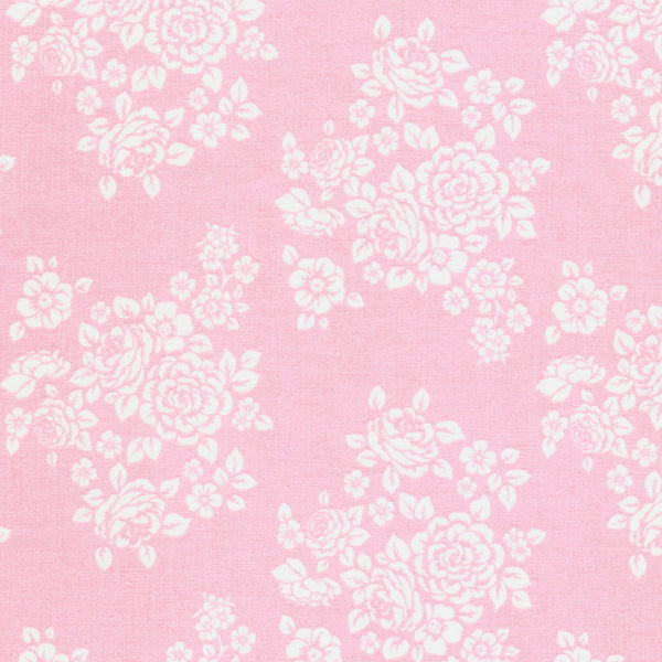 Anne of Green Gables Flower Bouquet Fabric on Pink
