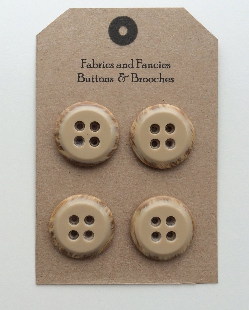 Iced Circle Top Brown Buttons