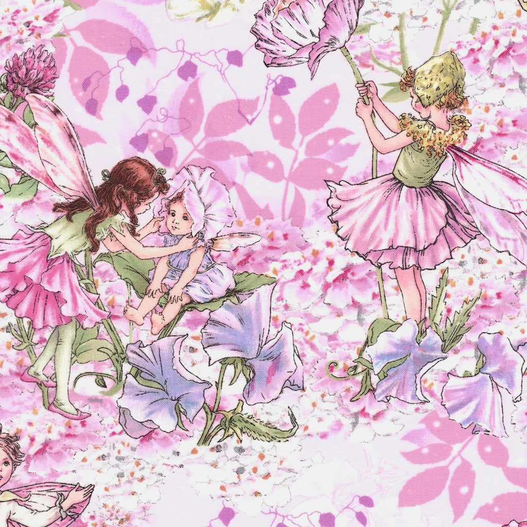 Michael Miller Fabric Flower Fairies By Cicely Mary Barker Fabrics