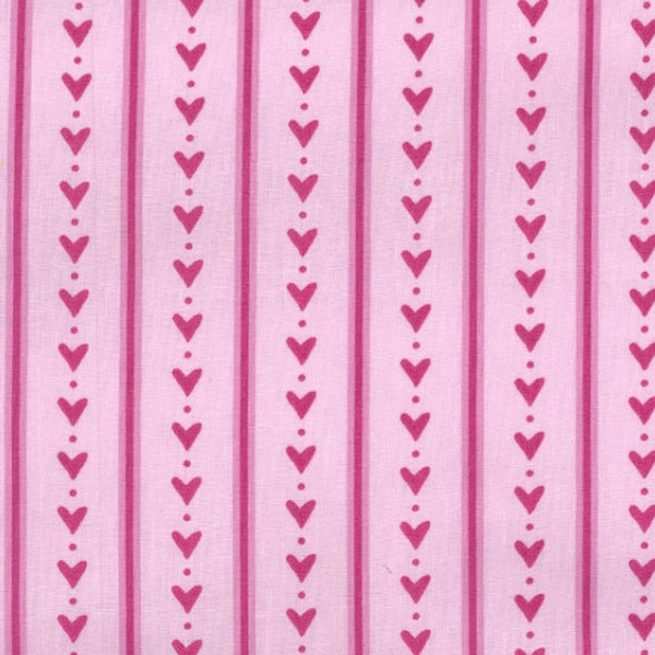Hearts & Stripes Pink
