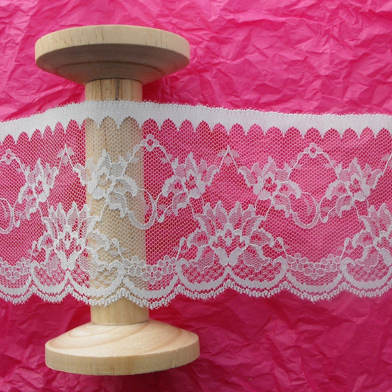 90mm Arches & Flower Lace in Ivory