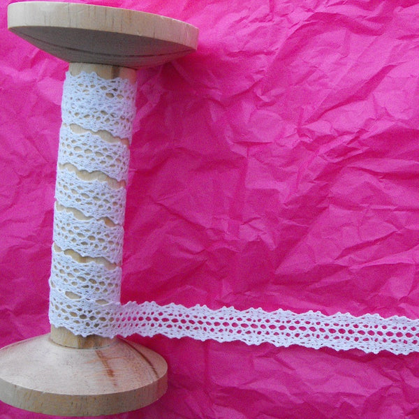 15mm White Crochet Lace