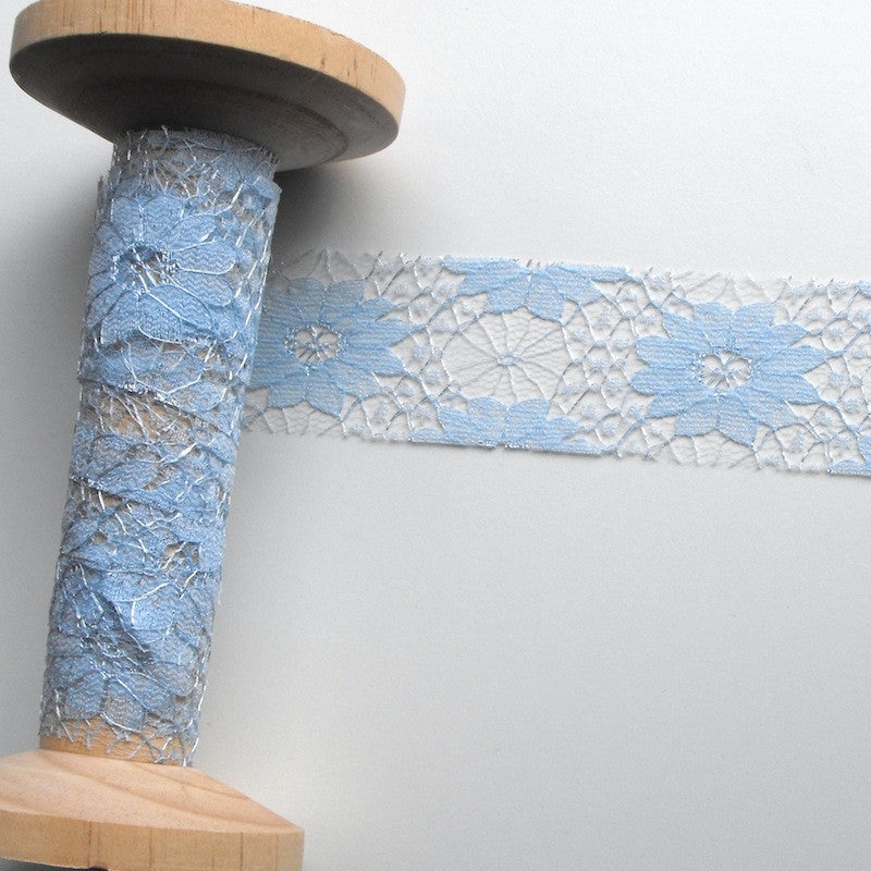Delicate Flower Lace Blue