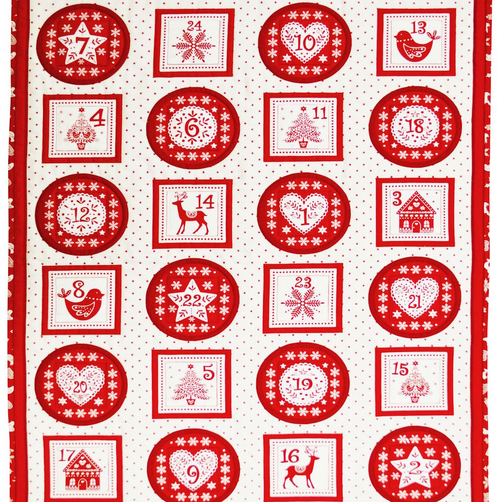Scandi Pocket Panel Christmas Advent Calendar - Panel