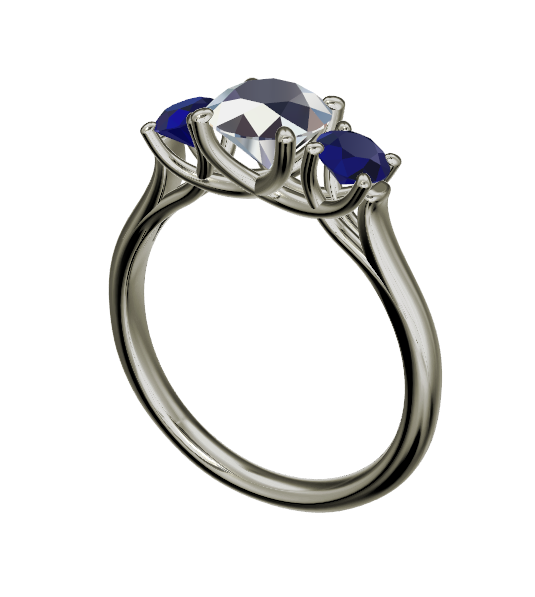 Ring Story - Allie's Custom Three Stone Sapphire Engagement Ring - Philadelphia Jeweler