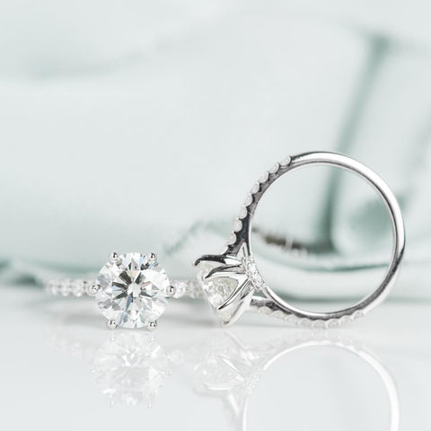 responsibly sourced diamond solitaire engagement ring