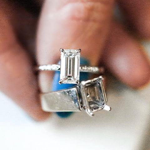 heirloom redesign engagement ring reset your diamond into modern and chic setting