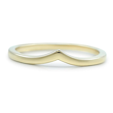 14k yellow gold contour wedding band available in rose or white gold