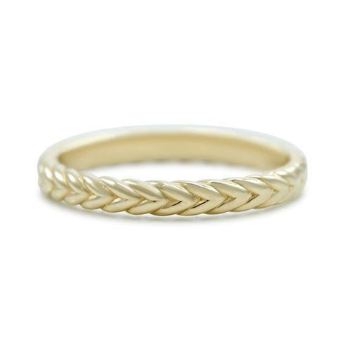 yellow gold rope detail wedding band available in rose gold or white gold