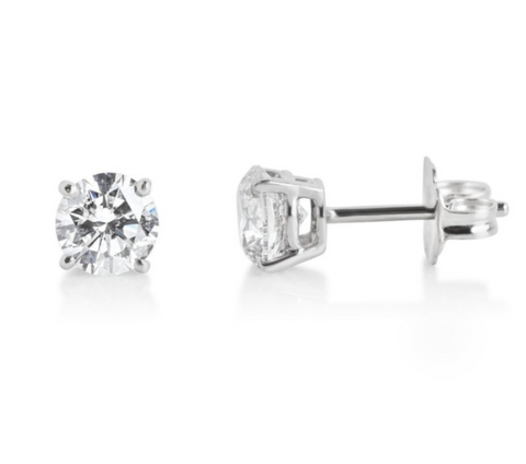 diamond studs with white gold earrings