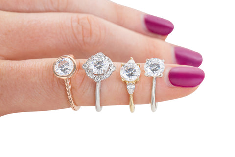 semi-custom diamond engagement rings available for purchase online and made for you within 4-6 weeks