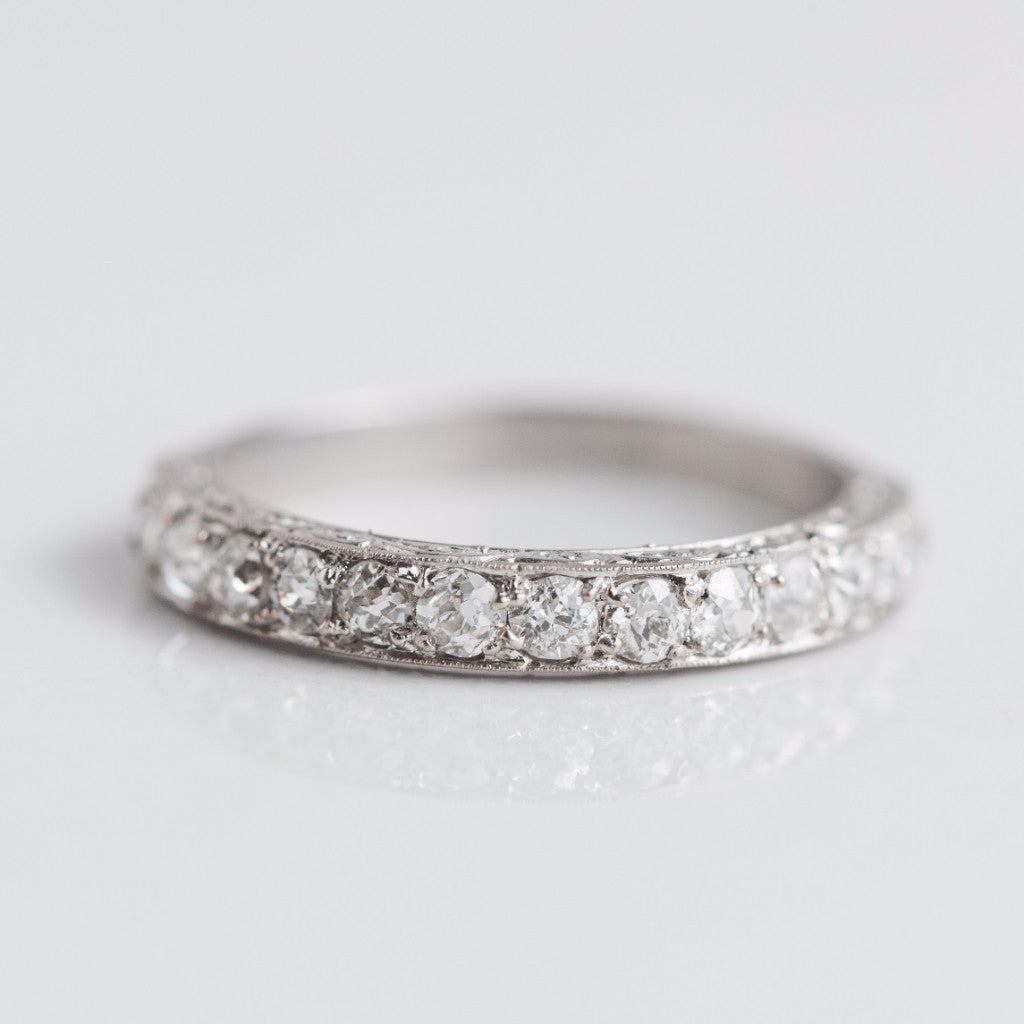 pave unique wedding diamond best of curved download milgrain band full size fresh
