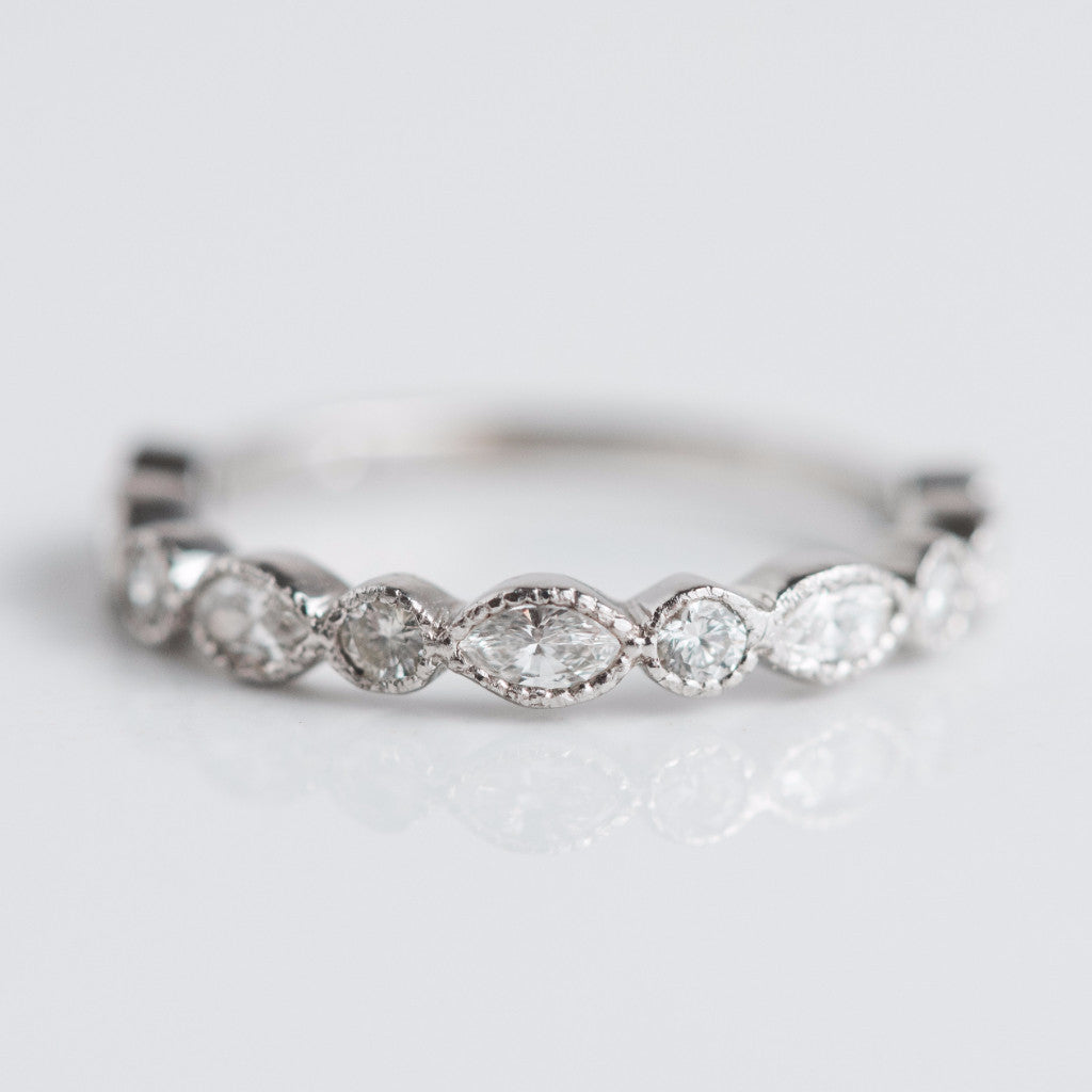 Multi Diamond Wedding Band