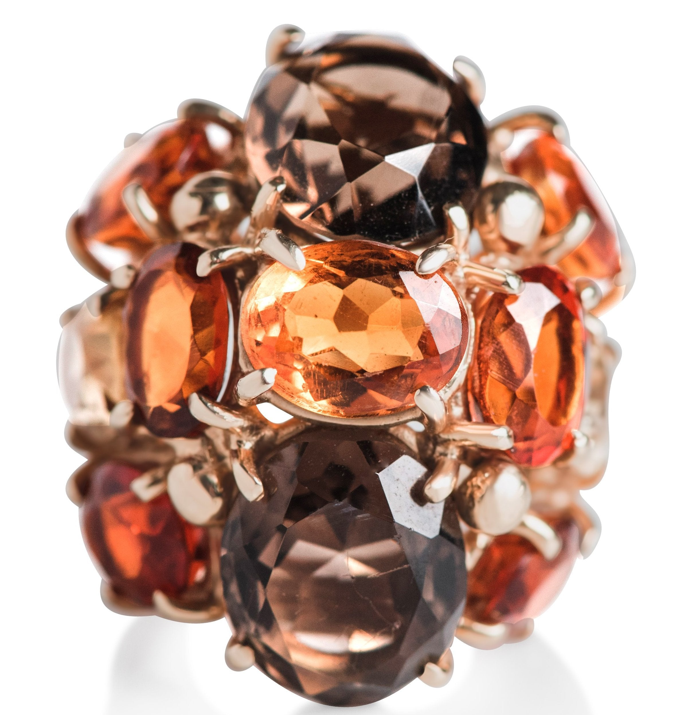 36d712bc8 Adia Ring · ORANGE CITRINE GEMSTONE RIGHT HAND ESTATE RING WITH YELLOW GOLD  BAND ...