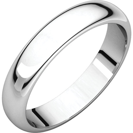4MM WHITE GOLD MEN'S WEDDING BAND