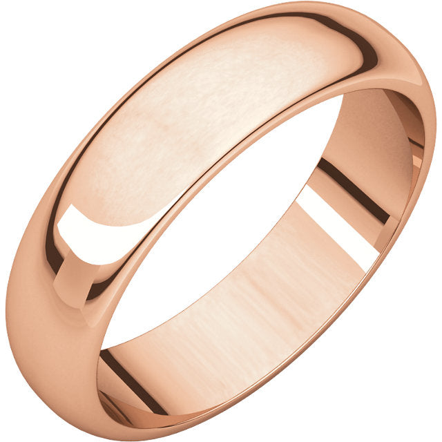 5MM ROSE GOLD MEN'S WEDDING BAND