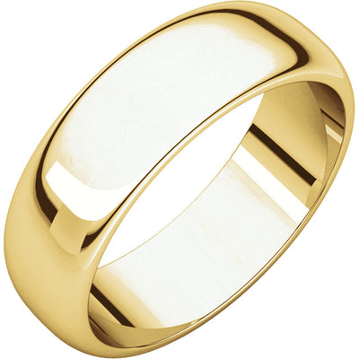 YELLOW GOLD 6MM MEN'S WEDDING BAND