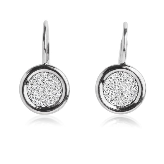 WHITE GOLD DIAMOND PENDANT EARRINGS