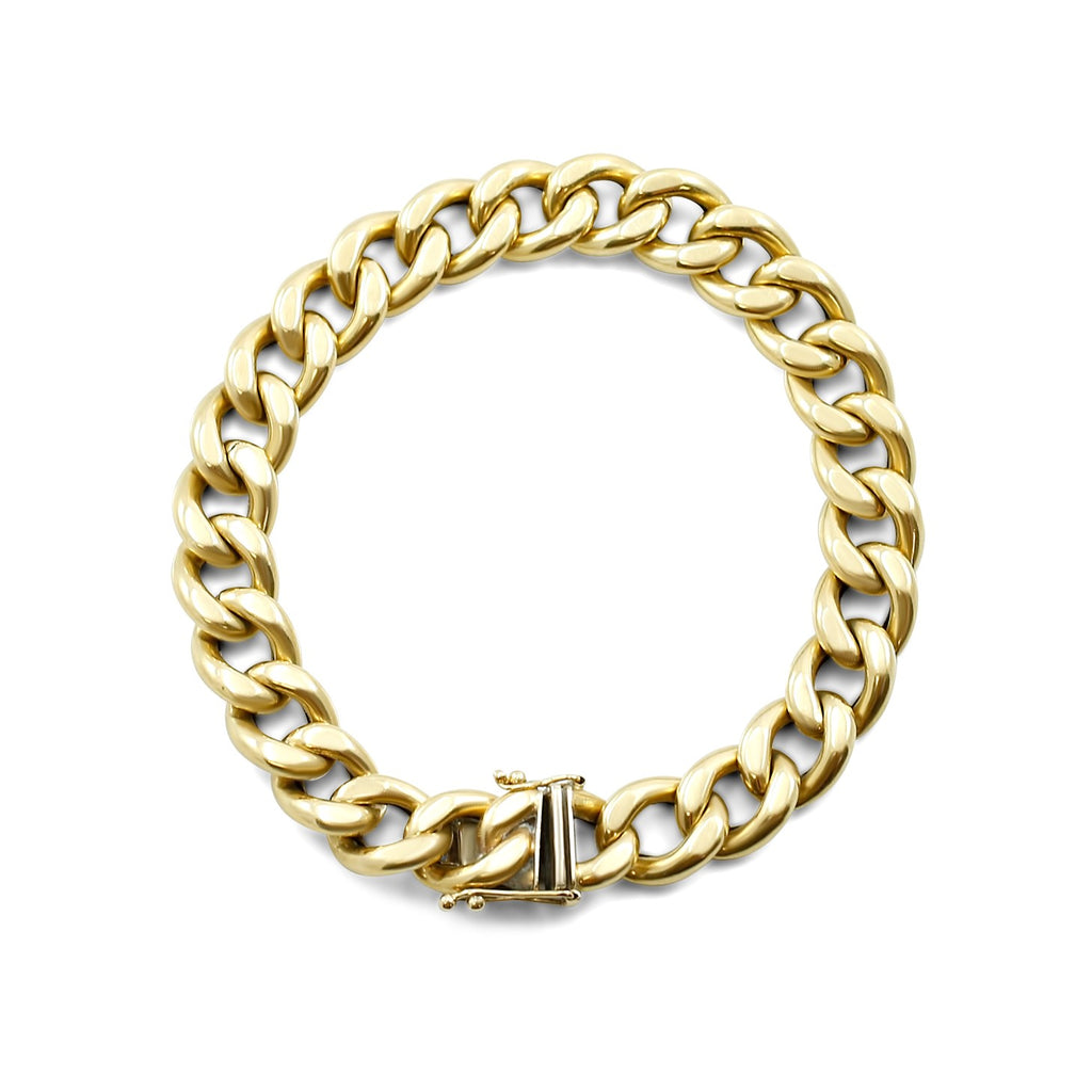 8in 18k yellow gold chain link estate bracelet