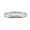 platinum estate wedding band with engraved pattern all the way around the band