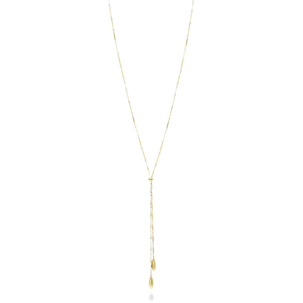adjustable lariat necklace sterling silver with gold plating mother chic collection