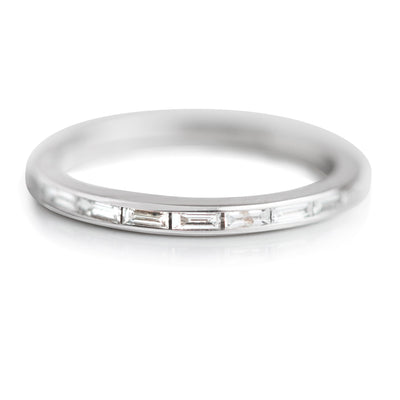 WHITE GOLD AND BAGUETTE ETERNITY DIAMOND WEDDING BAND