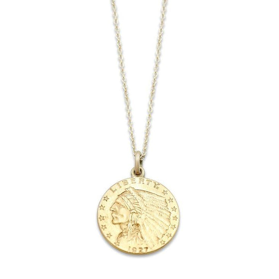 10k yellow gold estate eagle pendant with 16-18in convertible chain