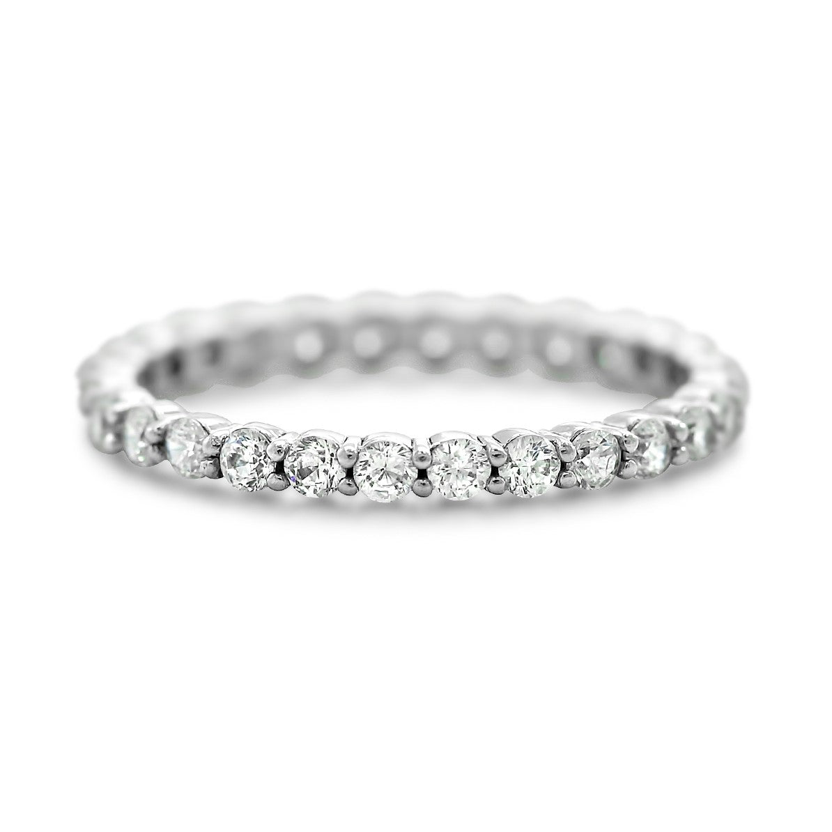2.0mm eternity band ~0.87tcw diamonds available in platinum or 14k yellow, white or rose gold