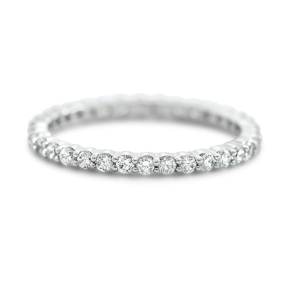 ~0.64tcw diamond eternity wedding band available in 14k yellow white and rose gold or platinum