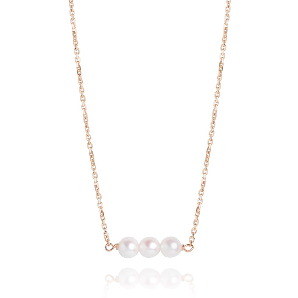 PEARL AND YELLOW GOLD NECKLACE