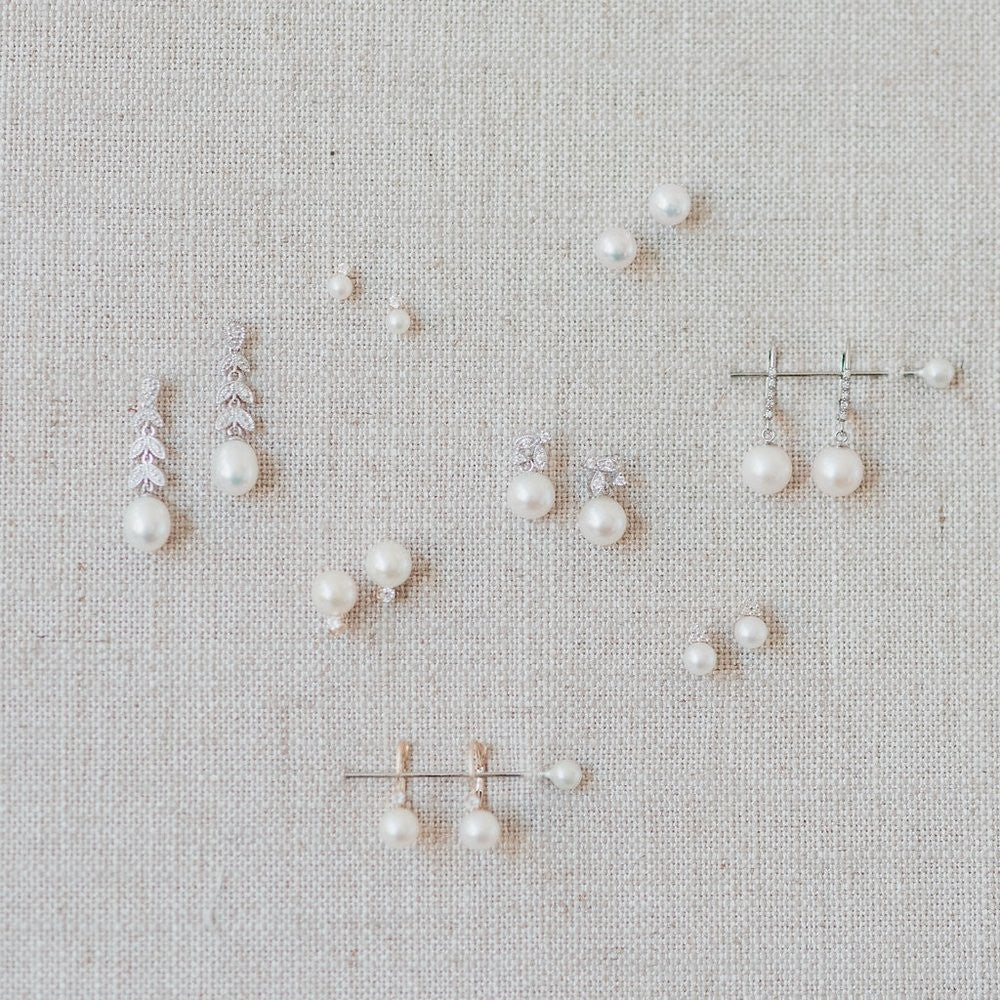 pearl and diamond wedding earrings