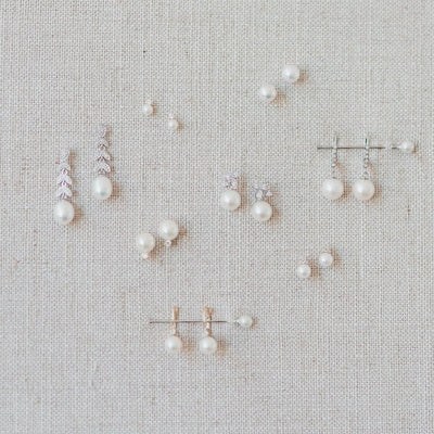 pearl and daimond wedding earrings
