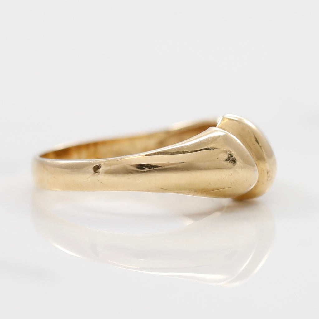 Side View 14K Yellow Gold Diamond Statement Ring