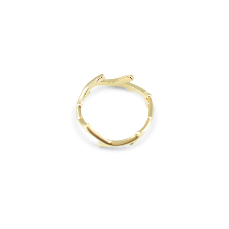 14k yellow, white or rose gold branch ring wedding band or everyday ring under 1000