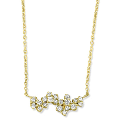 14k yellow gold diamond asymmetrical necklace in 14k yellow gold 16inch chain