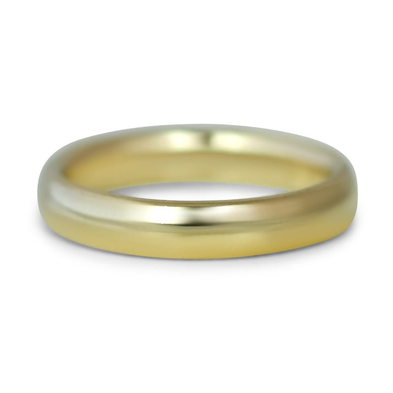 14k Yellow Gold Comfort Fit Men's Wedding Band