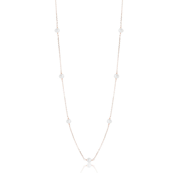 FRESHWATER PEARL NECKLACE ON A YELLOW OR WHITE GOLD CHAIN