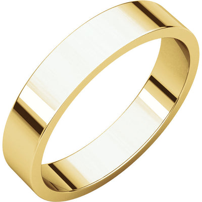MEN'S FLAT WEDDING BANDS AVAILABLE IN ROSE, YELLOW AND WHITE GOLD AND PLATINUM