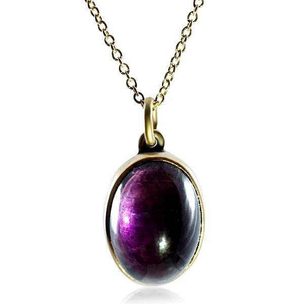 14k Yellow Gold Antique Amethyst Pendant