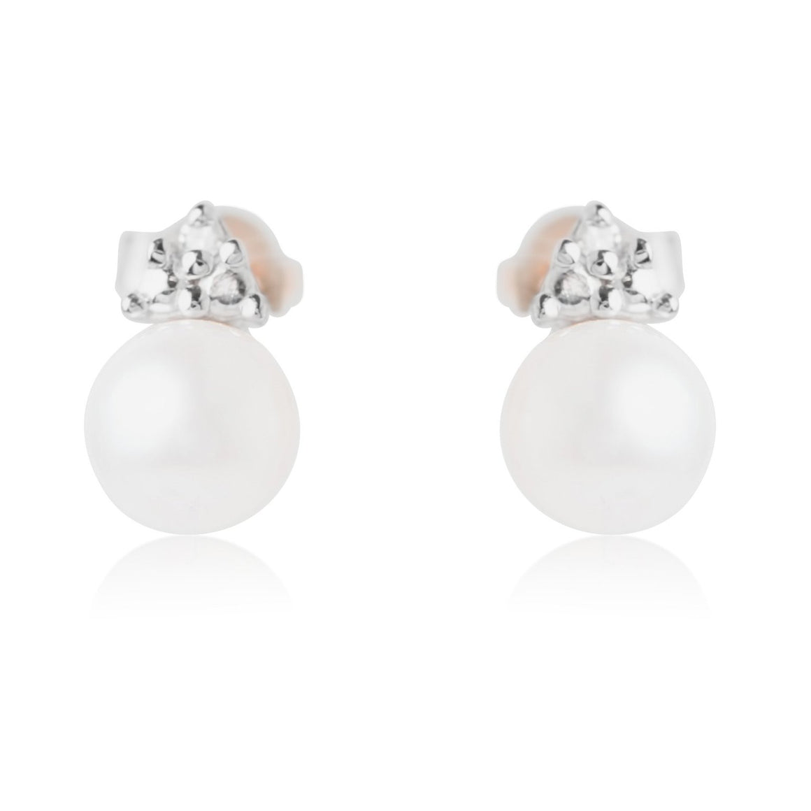 FRESHWATER PEARL VINTAGE INSPIRED EARRINGS IN YELLOW OR WHITE GOLD