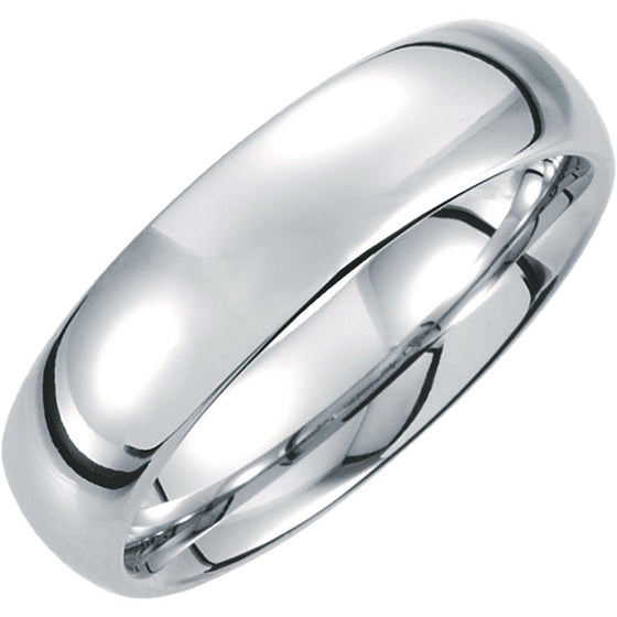 6MM TUNGSTEN MEN'S WEDDING BAND WITH MIRROR FINISH