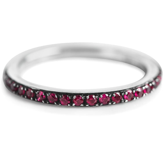 PAVE SET RUBY STACK RING