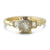 14k yellow gold gray diamond engagement ring emerald cut