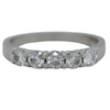 platinum five stone diamond estate wedding band