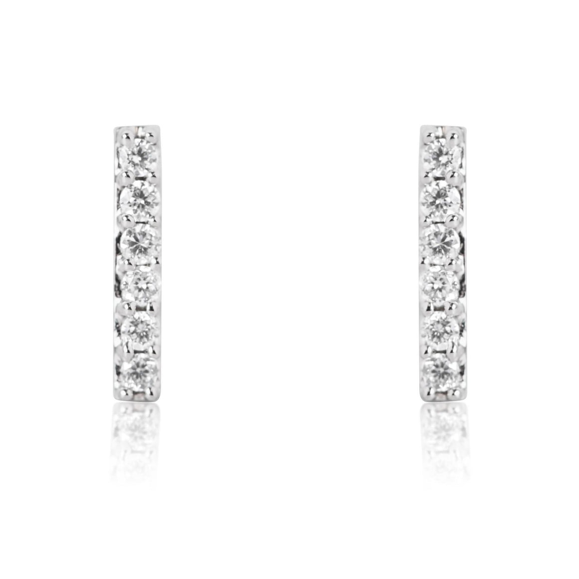 DIAMOND BAR EARRINGS IN WHITE, YELLOW OR ROSE GOLD