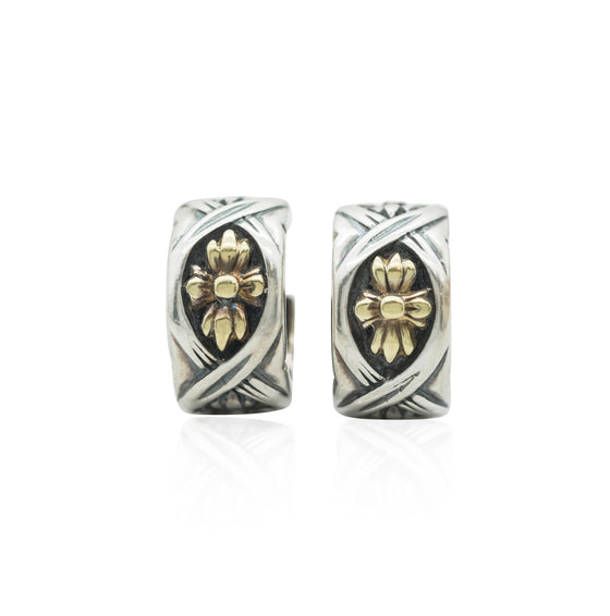 ESTATE LAGOS EARRINGS FROM THE CAVIAR COLLECTION STERLING SILVER