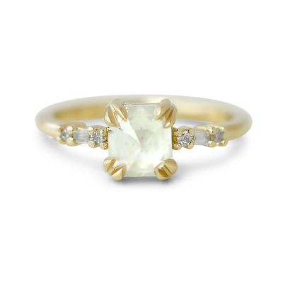 14k yellow gold canada diamond engagement ring