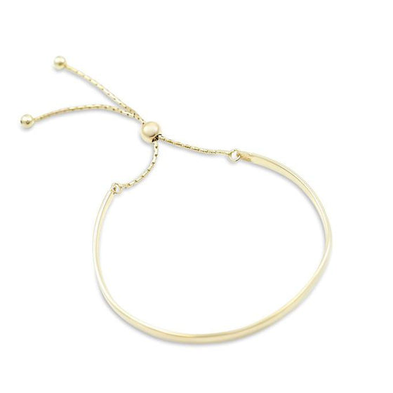 STERLING SILVER GOLD PLATED BANGLE WITH ADJUSTABLE FIT MOTHERCHIC COLLECTION