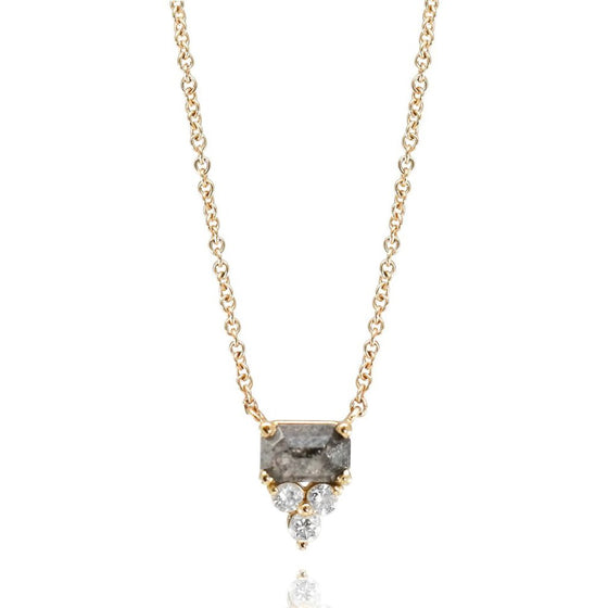 GRAY AND WHITE DIAMOND NECKLACE